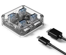 ORICO MH4U-U3 4-Port USB3.0 Transparent Desktop HUB